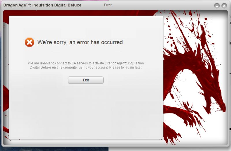 Dragon Age Inquisition Won't Launch